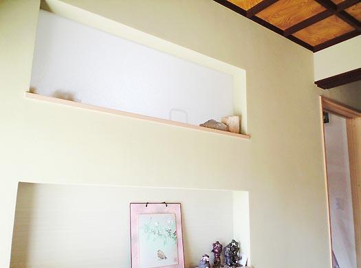 沢田工務店のリフォーム 玄関壁デザイン