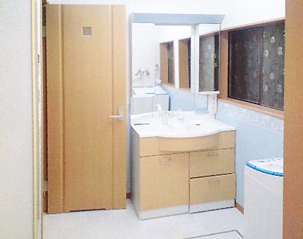 沢田工務店のリフォーム 洗面所